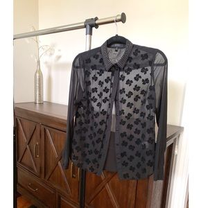 Black Sheer Blouse by Jessica Simpson